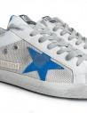 Sneakers Golden Goose Superstar Bianche Silver Stella Blu prezzo G34MS590.M99-WHITE-SILVER-NETshop online