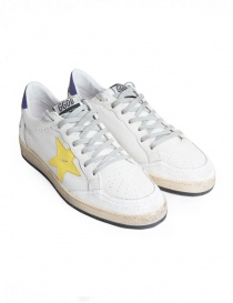 Sneakers Golden Goose Ball Star Bianche Gialle Viola G34MS592.R9-WHT-PUR-YELLOW-STA
