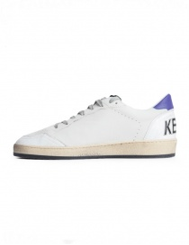 Golden Goose Ball Star Sneakers White Yellow and Purple