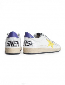 Sneakers Golden Goose Ball Star Bianche Gialle Viola prezzo