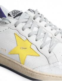 Sneakers Golden Goose Ball Star Bianche Gialle Viola calzature uomo prezzo