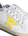 Sneakers Golden Goose Ball Star Bianche Gialle Viola prezzo G34MS592.R9-WHT-PUR-YELLOW-STAshop online