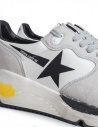 Golden Goose Running Sneakers White with Black Star price G34MS963.A1 WHT LYCRA/BLK STAR shop online