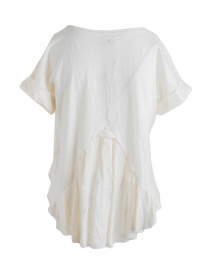Kapital white ivory T-shirt with hand-embroidered linen tail
