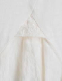 T-shirt Kapital bianco avorio con coda in lino ricamata a mano t shirt donna acquista online