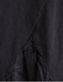 T-shirt Kapital nera con coda a pieghe in lino prezzo
