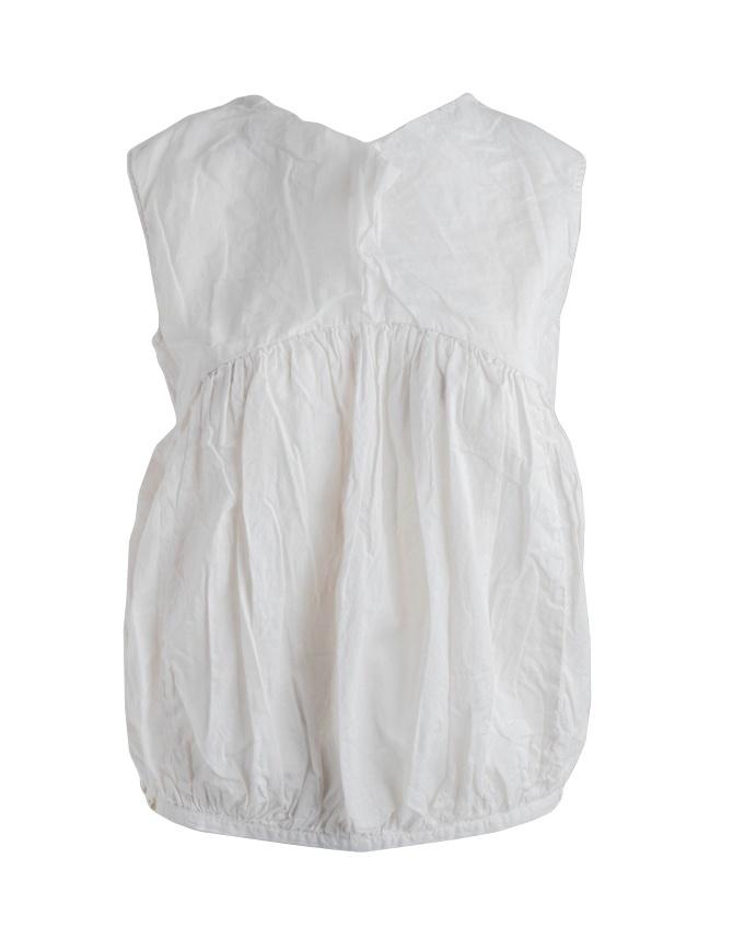 Kapital white sleeveless balloon shirt K1804SS185 ICE GRAY CAMISOLE womens shirts online shopping