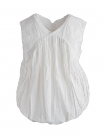Camicia Kapital bianca smanicata a palloncino