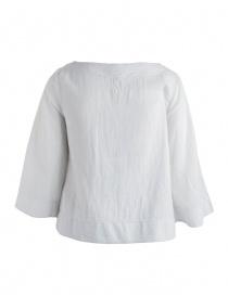 Camicia European Culture bianco grezzo maniche 3 quarti