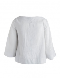 European Culture raw white 3 quarter sleeve shirt