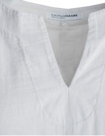 European Culture raw white 3 quarter sleeve shirt price