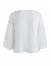 European Culture white three-quarter sleeves shirt buy online