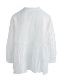 Blusa European Culture bianca plissettata con coda