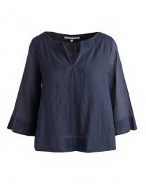 Camicia European Culture blu maniche 3/4 online