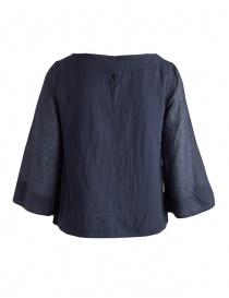 Camicia European Culture blu maniche 3/4