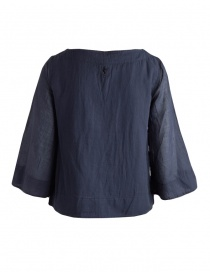 European Culture blue shirt with 3/4 sleeves
