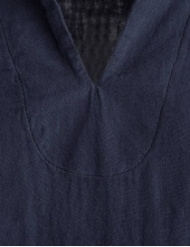 European Culture blue shirt with 3/4 sleeves price
