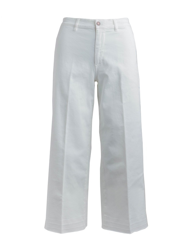 Jeans Avantgardenim bianco a palazzo 05B1-3881-0101 jeans donna online shopping