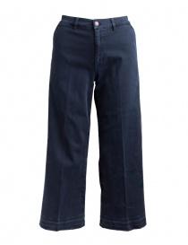 Womens jeans online: Avantgardenim navy blue palazzo jeans