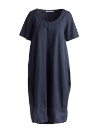 European Culture long blue dress with short sleeves online