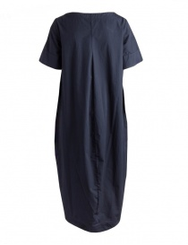 European Culture long blue dress with short sleeves