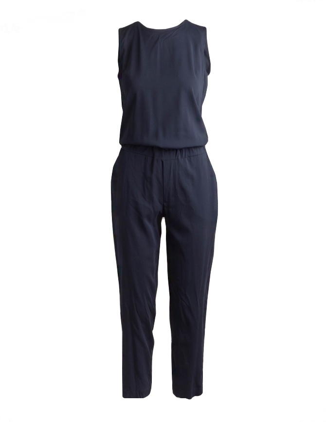 European Culture blue sleeveless sweatsuit Lux Mood 1840-8040-1508 womens dresses online shopping
