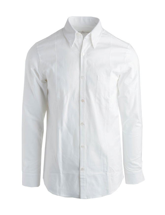 Golden Goose shirt in white pique cotton G34MP522.A1 WHITE golden goose sale online shopping