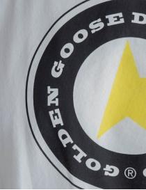 T-shirt Golden Goose bianca con stampa a stella prezzo
