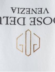T-shirt Golden Goose bianca con logo rovesciato prezzo