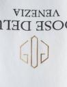 T-shirt Golden Goose bianca con logo rovesciato G34MP524.A1 WHITE/REV.LOGO prezzo