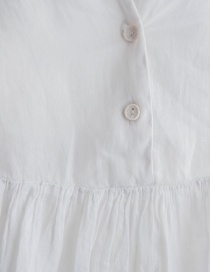 European Culture white ivory pleated blouse with tail price