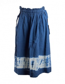 Womens skirts online: Kapital indigo skirt in linen
