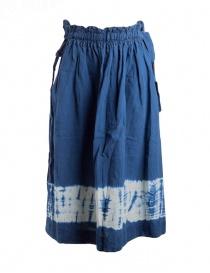 Kapital indigo skirt in linen online