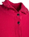 Abito lungo Crêperie manica lunga abbottonato rosso TC05FH505-RED-LONG-SHIRT prezzo