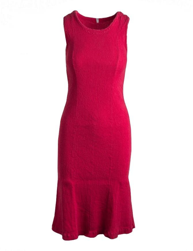 Tubino Crêperie rosso senza maniche TC05FH513-RED-DRESS abiti donna online shopping