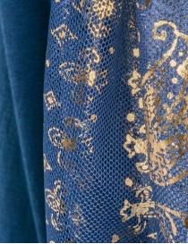 Maglia Kapital blu con maniche a sbuffo in tulle maglieria donna acquista online