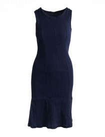Crêperie navy blue sleeveless shift dress TC05FH513-NAVY-DRESS