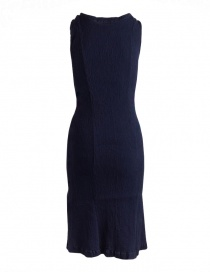 Crêperie navy blue sleeveless shift dress buy online