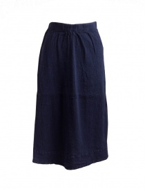 Gonna lunga Crêperie blu navy TC05FH512-NAVY-LONG-SKIRT order online