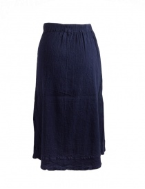 Crêperie navy blue long skirt