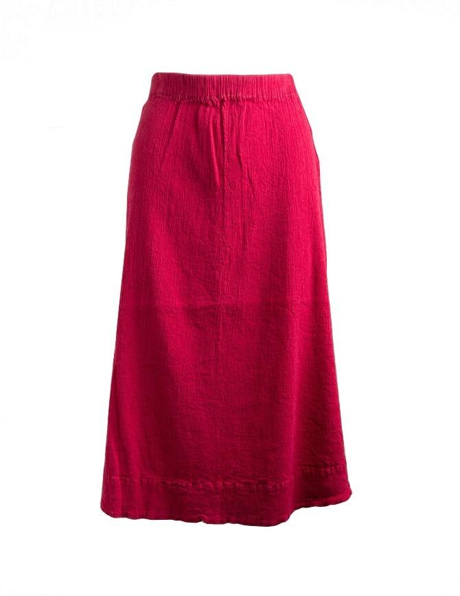 Crêperie red long skirt TC05FH512-RED-LONG-SKIRT womens skirts online shopping