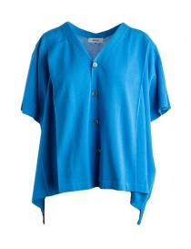 Zucca short-sleeved blue cardigan ZU97-KO067 BLUETTE