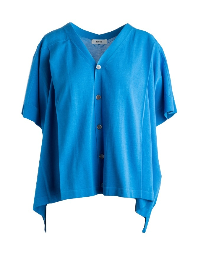Zucca short-sleeved blue cardigan ZU97-KO067 BLUETTE womens cardigans online shopping