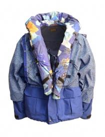 Giacca Kapital Kamakura colore celeste giubbini uomo acquista online