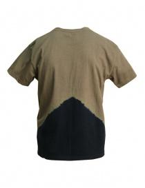 T-shirt Kapital con luna gialla e Monte Fuji