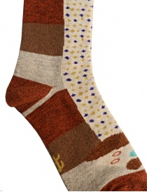 Kapital brown socks with dachshund drawing