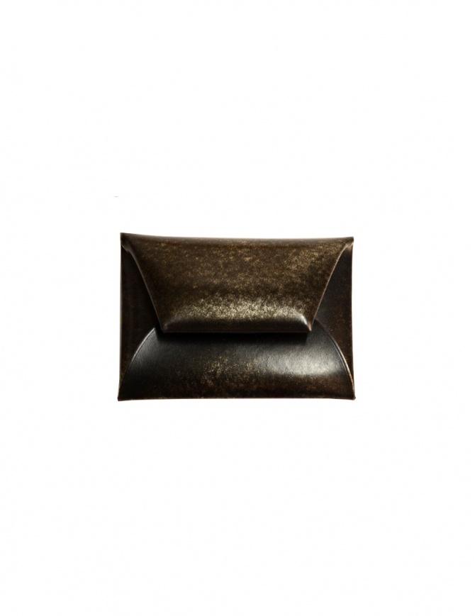 Porta monete Ptah in pelle con sfumature dorate PT150508 BUF COINCASE GOLD portafogli online shopping