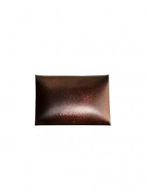 Porta monete Ptah in pelle rossa