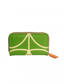 Wallets online: Orla Kiely green fabric wallet