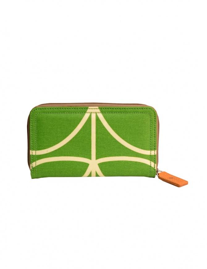 Orla Kiely green fabric wallet 15AELIN122 APPLE wallets online shopping